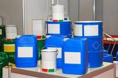 Tambores químicos Fotografia de Stock Royalty Free