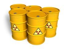 Tambores radioativos Fotografia de Stock