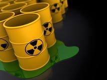 Tambores radioativos Fotografia de Stock Royalty Free