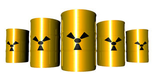 Tambores radioativos - anisotrópicos Fotos de Stock
