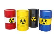 Tambores radioativos isolados Fotografia de Stock Royalty Free