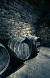 Tambores velhos em um vault, imagem do hdr foto de stock