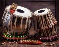 Tambores y campanas de Tabla para bailar Imagen de archivo libre de regalías
