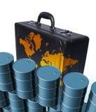 Tambores y cartera de petróleo stock de ilustración