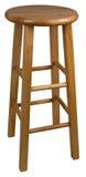 Tamborete de barra de madeira Fotos de Stock