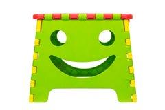 Tamborete de dobramento plástico colorido Imagens de Stock
