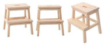 Tamborete de madeira Imagem de Stock