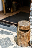 Tamborete de madeira decorativo Foto de Stock Royalty Free