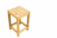 Tamborete de madeira quadrado de Brown com espaço da cópia Foto de Stock Royalty Free