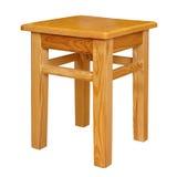 Tamborete de madeira simples isolado Fotografia de Stock Royalty Free