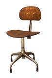 Tamborete revolvendo marrom dos anos 50 do vintage nos pés do metal Imagem de Stock Royalty Free