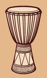 Tambour africain illustration stock