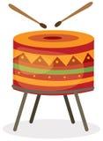 Tambour avec des bâtons de tambour illustration de vecteur
