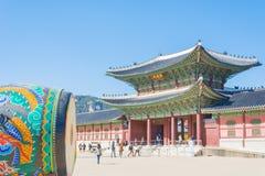 Tambour cérémonieux énorme au palais de Gyeongbokgung image libre de droits