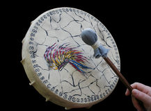 Tambour cérémonieux Photos libres de droits