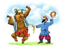 Tambour de basque juste Roma d'ours de cirque illustration libre de droits