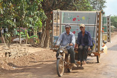 Tambour de chalut cambodgien Images stock