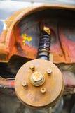 Tambour de frein rouillé de véhicule image libre de droits