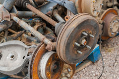 Tambour de frein rouillé de véhicule Image stock