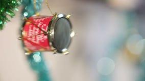 Tambour de jouet de Noël banque de vidéos