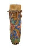 Tambour de main décoré vieil par art populaire d'isolement Image libre de droits
