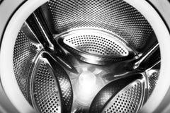 Tambour en gros plan de machine à laver images libres de droits
