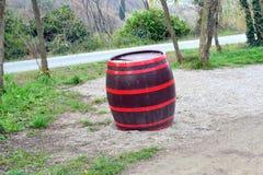 Tambour isolé de vin de Koper Slovénie Images stock