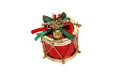 Tambour rouge de Noël Photos libres de droits