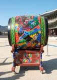 Tambour traditionnel coréen appelé 'Buk' image stock