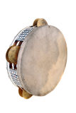 Tambourine. With the tense skin and the inlaid rim with sonorous plates royalty free stock photography