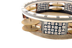 Tambourine. With the tense skin and the inlaid rim with sonorous plates Stock Photography