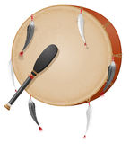 Tambourine american indians vector illustration Royalty Free Stock Photography