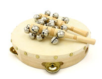 Tambourine and Castanets Royalty Free Stock Images