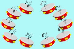 Tambourine 3d Royalty Free Stock Images