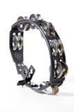 Tambourine de Ovel em Bk branco Fotografia de Stock Royalty Free