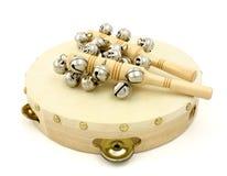 Tambourine e Castanets Imagens de Stock Royalty Free