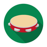 Tambourine icon in flat style isolated on white background. Spain country symbol  Royalty Free Stock Photography