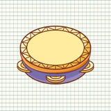 tambourine Instrument de musique pour l'enfant Jouet de chéri Type de dessin animé Photo stock