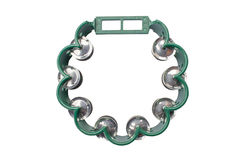 Tambourine isolated on white Royalty Free Stock Photography