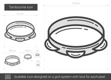 Tambourine line icon. Royalty Free Stock Images