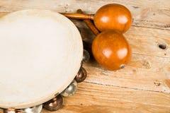 Tambourine and maracas Stock Image