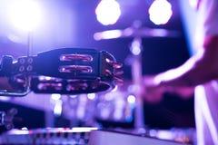 Tambourine na scenie Obrazy Royalty Free