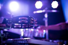 Tambourine na scenie Obraz Stock
