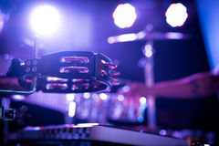 Tambourine on the stage Stock Image