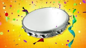 Tambourine tapping rhythm of carnival Royalty Free Stock Photography