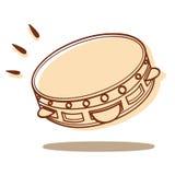 Tambourine wektor Fotografia Royalty Free