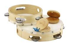 Tambourines et castagnettes Photos libres de droits
