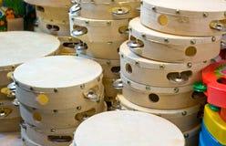 Tambourines stall Stock Photography