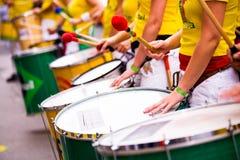 Tambours 7 de samba Photos libres de droits
