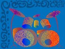 Tambours colorés par modèle illustration stock